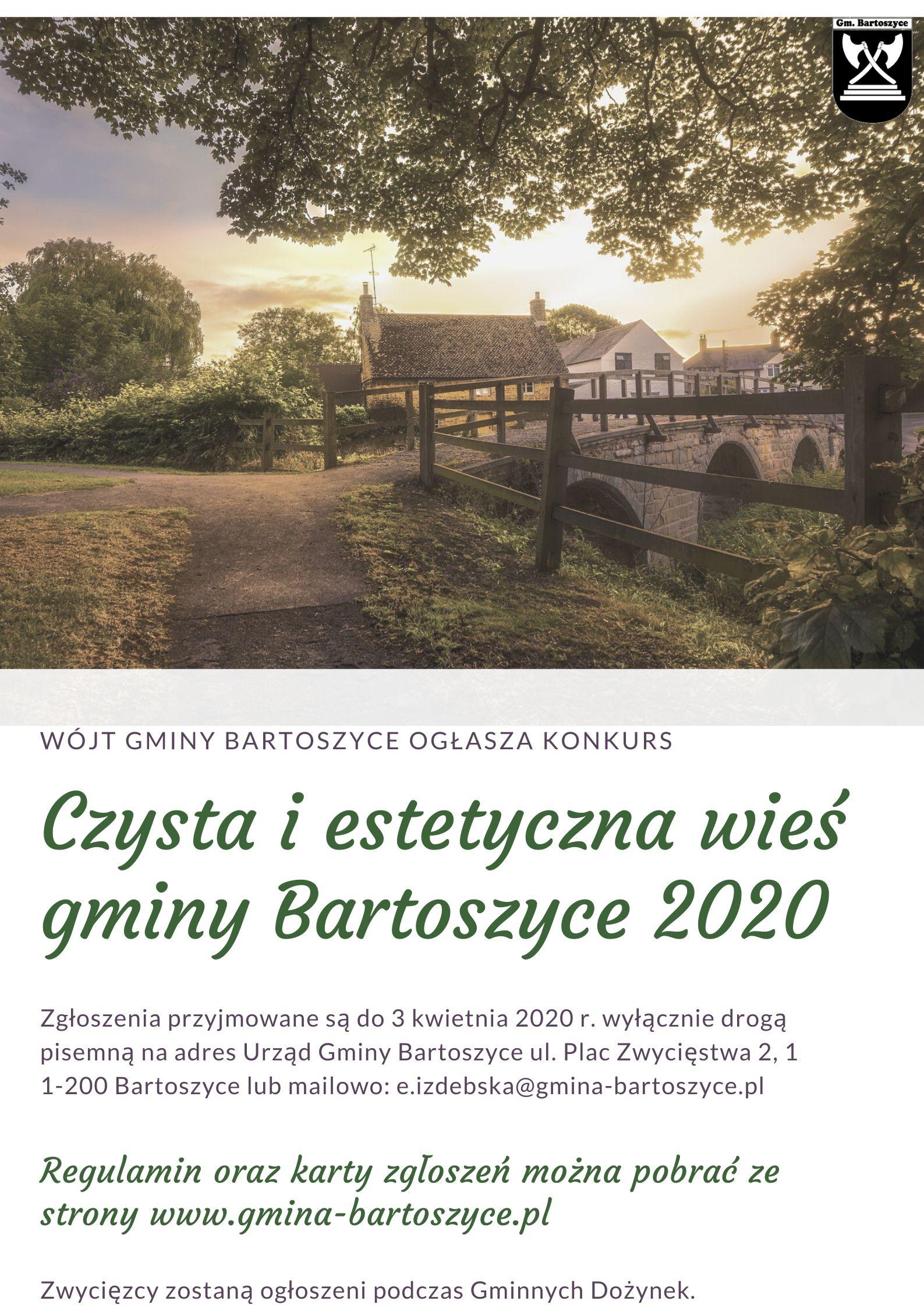 """Ilustracja do informacji: Konkurs """"Czysta i estetyczna wieś gminy Bartoszyce"""""""