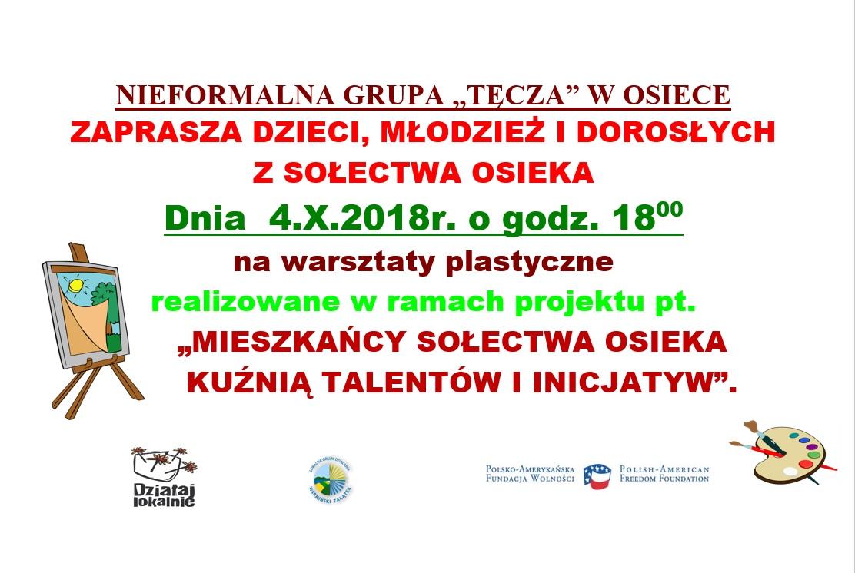 Ilustracja do informacji: Warsztaty plastyczne w Osiece