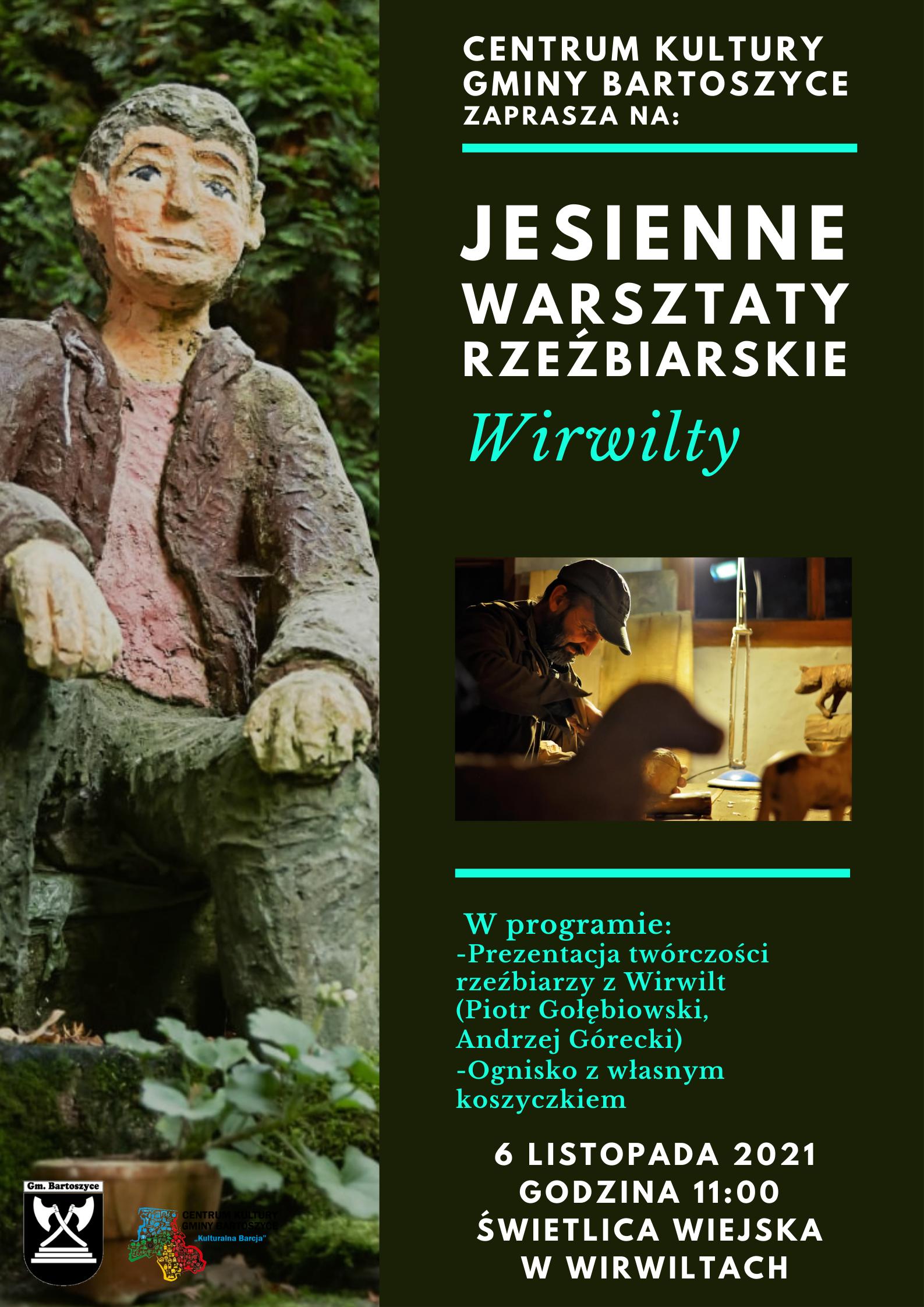 Ilustracja do informacji: Jesienne Warsztaty Rzeźbiarskie Wirwilty