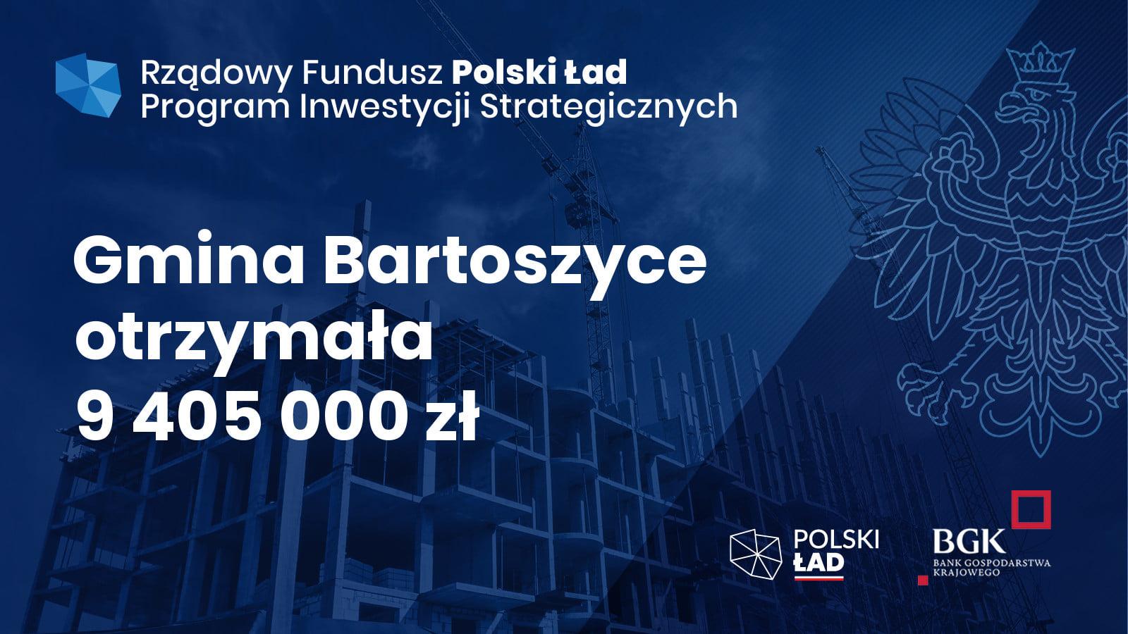 Ilustracja do informacji: Dofinansowanie Gminy Bartoszyce z Rządowego Funduszu Polski Ład: Program Inwestycji Strategicznych